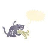 Cartoon cat being sick Stock Photography