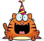 Cartoon Cat Birthday Party Stock Photo