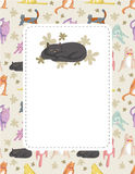 Cartoon cat card Stock Photography