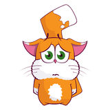 Cartoon cat character Stock Image