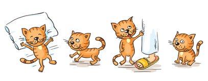 Cartoon cat Royalty Free Stock Images