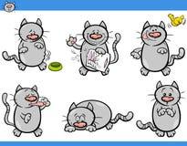 Cartoon cat characters set Royalty Free Stock Photography