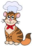 Cartoon cat chef. On white background - vector illustration Royalty Free Stock Photography