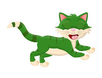 Cartoon cat with closed eyes vector symbol icon design. Stock Photography