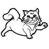 Cartoon Cat Coloring Page for kid vector Royalty Free Stock Photography