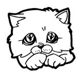 Cartoon Cat Coloring Page Stock Photography