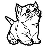 Cartoon Cat Coloring Page Royalty Free Stock Photos