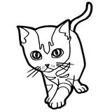 Cartoon Cat Coloring Page Royalty Free Stock Images