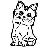 Cartoon Cat Coloring Page Stock Image