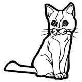 Cartoon Cat Coloring Page Royalty Free Stock Image
