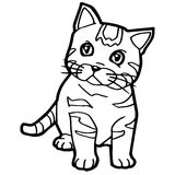 Cartoon Cat Coloring Page vector Royalty Free Stock Photo
