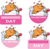 Cartoon Cat Cupid Graphic Stock Photography