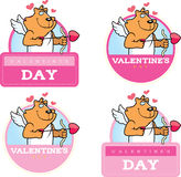 Cartoon Cat Cupid Graphic Royalty Free Stock Photography