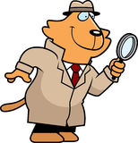 Cartoon Cat Detective Royalty Free Stock Image
