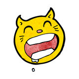 Cartoon cat face symbol Stock Photography
