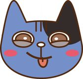 Cat. With facial expression sticking out tongue Royalty Free Stock Photos