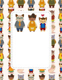 Cartoon cat family card Royalty Free Stock Photos