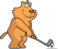 Cartoon Cat Golfing Stock Images