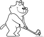 Cartoon Cat Golfing Royalty Free Stock Photos