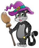 Cartoon cat with Halloween hat Royalty Free Stock Photo
