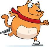 Cartoon Cat Ice Skating Royalty Free Stock Images