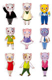Cartoon cat icon Royalty Free Stock Images