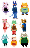 Cartoon cat icon. Vector drawing Stock Photography