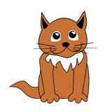 Cartoon cat  illustration Stock Images