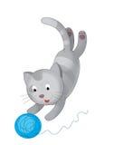 The cartoon - cat - illustration for the children Stock Photo