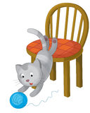 The cartoon - cat - illustration for the children Stock Photos