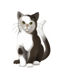 The cartoon cat - illustration for the children Royalty Free Stock Images