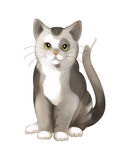 The cartoon cat - illustration for the children Royalty Free Stock Photo
