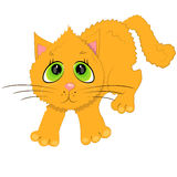 Cartoon cat illustration. pet character Stock Photo