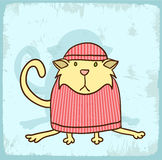 Cartoon cat illustration , vector icon Royalty Free Stock Photo