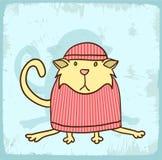 Cartoon cat illustration , vector icon Royalty Free Stock Photo