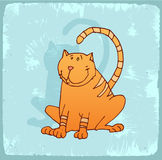 Cartoon cat illustration , vector icon Royalty Free Stock Images