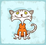 Cartoon cat illustration , vector icon Royalty Free Stock Image