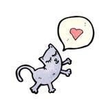 cartoon cat in love Royalty Free Stock Photos