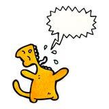 Cartoon cat meowing Stock Images