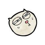 Cartoon cat with narrowed,eyes Stock Photo