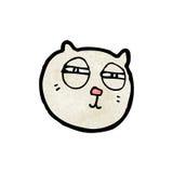 Cartoon cat with narrowed,eyes Royalty Free Stock Photo