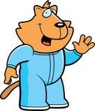 Cartoon Cat Pajamas. A cartoon illustration of a cat wearing pajamas Stock Images