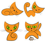Cartoon cat.pet collection Royalty Free Stock Photography