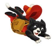 Cartoon cat -  - running and jumping hinting Stock Image
