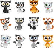 Cartoon cat set Stock Images