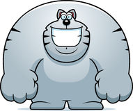 Cartoon Cat Smiling. A cartoon illustration of a cat smiling Royalty Free Stock Image