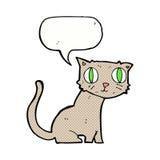 cartoon cat with speech bubble Royalty Free Stock Photos