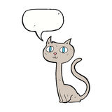 cartoon cat with speech bubble Royalty Free Stock Photography
