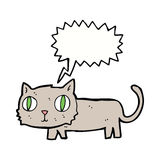 cartoon cat with speech bubble Stock Images