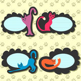 Cartoon cat stickers Stock Image
